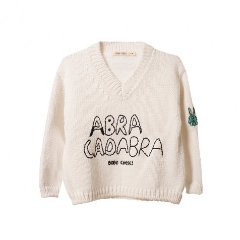 【セール30%OFF】2016AW No.119 Knitted embroidered jumper Abracadabra