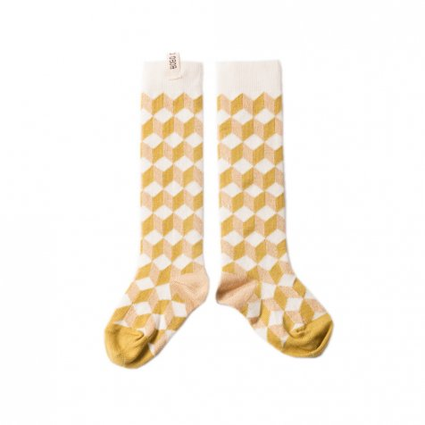 【セール30%OFF】2016AW No.130 Fantasy Long Socks Op Art Yellow