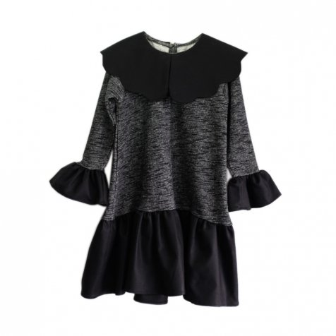 【セール30%OFF】ODETE Dress BLACK / GREY