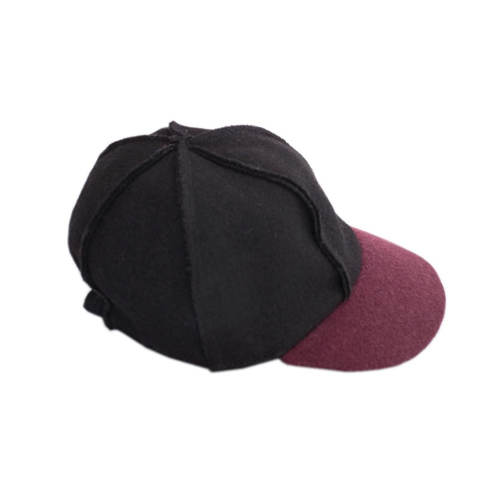 【SALE 50%OFF】IVO CAP BLACK BORDEAUX img