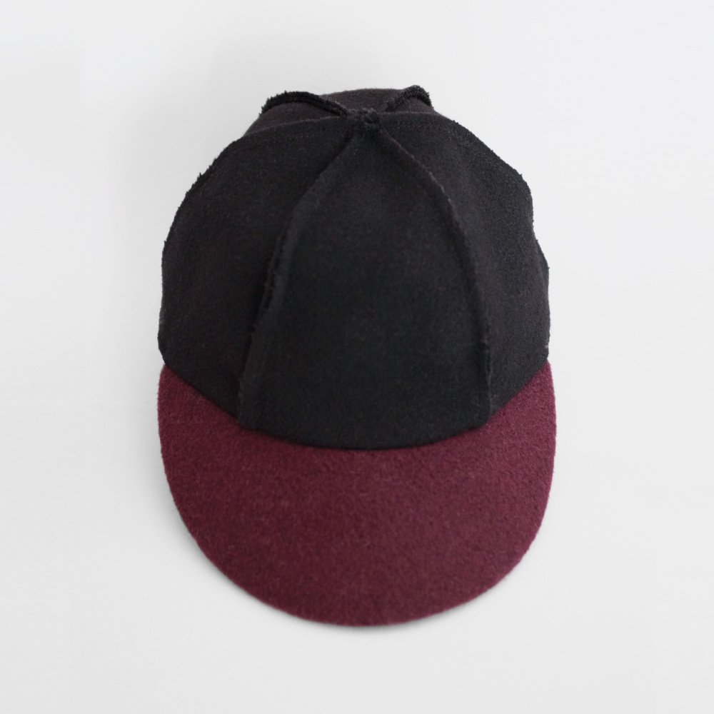 【SALE 50%OFF】IVO CAP BLACK BORDEAUX img1