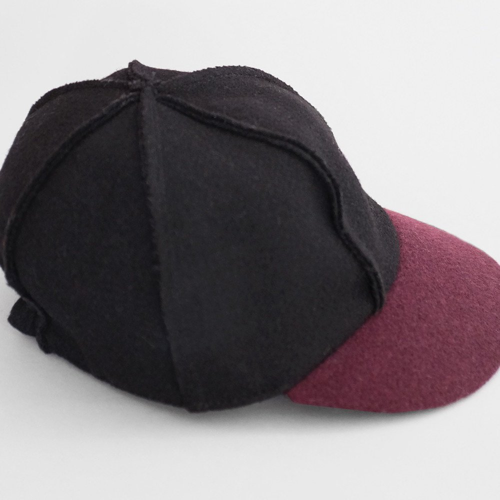 【SALE 50%OFF】IVO CAP BLACK BORDEAUX img2