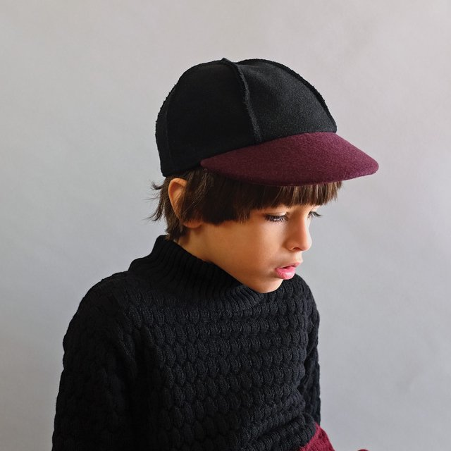 【SALE 50%OFF】IVO CAP BLACK BORDEAUX img3