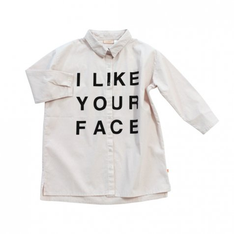 【セール30%OFF】2016AW No.196 i like your face woven shirt-dress white