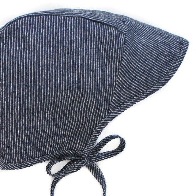 【20%OFF】brimmed bonnet navy stripe img1
