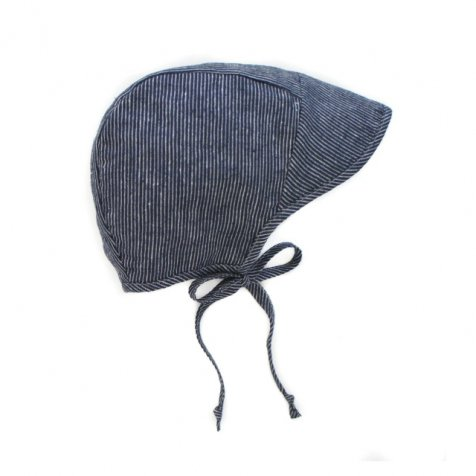 【価格改定】brimmed bonnet navy stripe