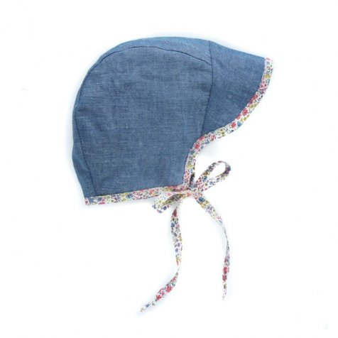 brimmed bonnet chambray