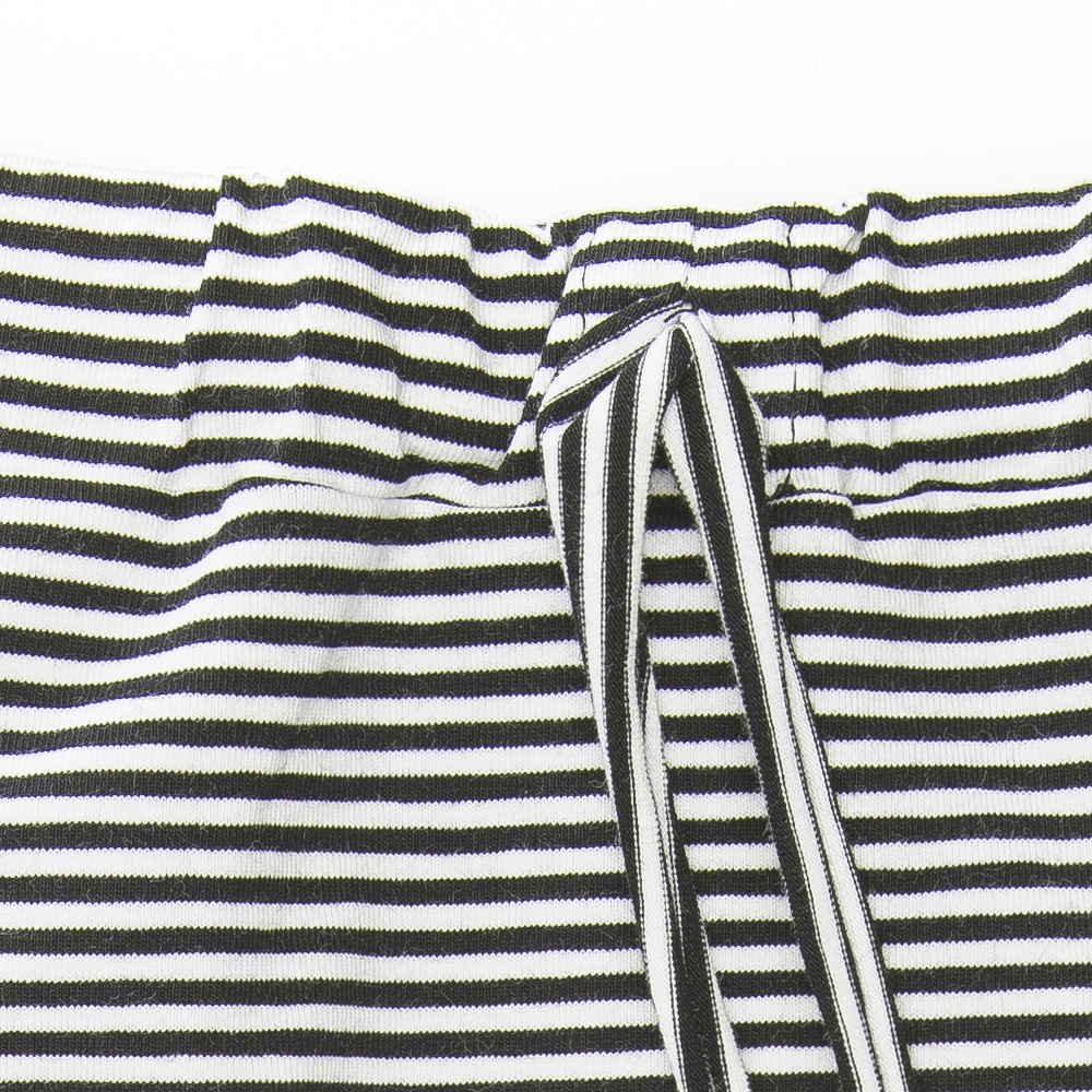 【セール30%OFF】Harem pants Jersey Black / White Stripes img1