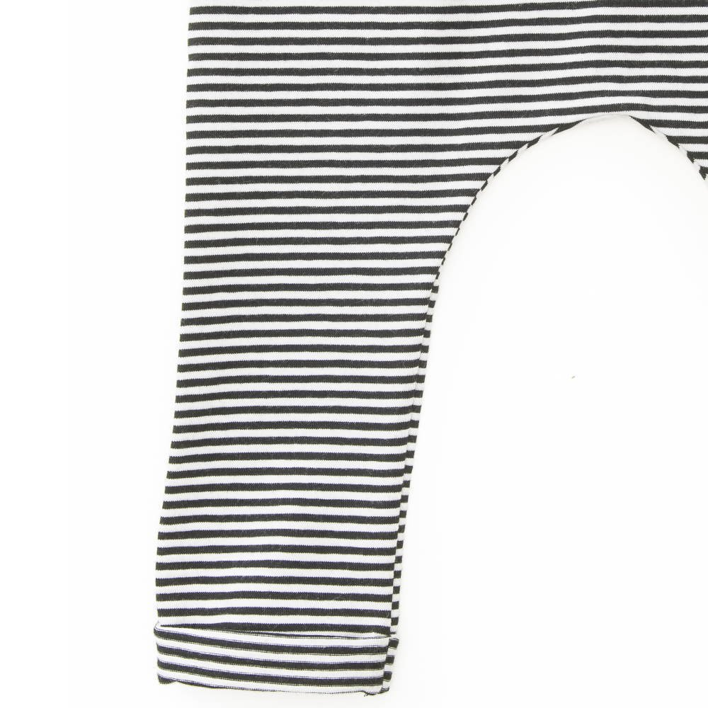 【セール30%OFF】Harem pants Jersey Black / White Stripes img2