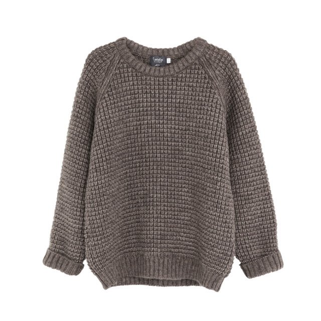 【SALE 40%OFF】W5616. KNITTED KID JERSEY BROWN img