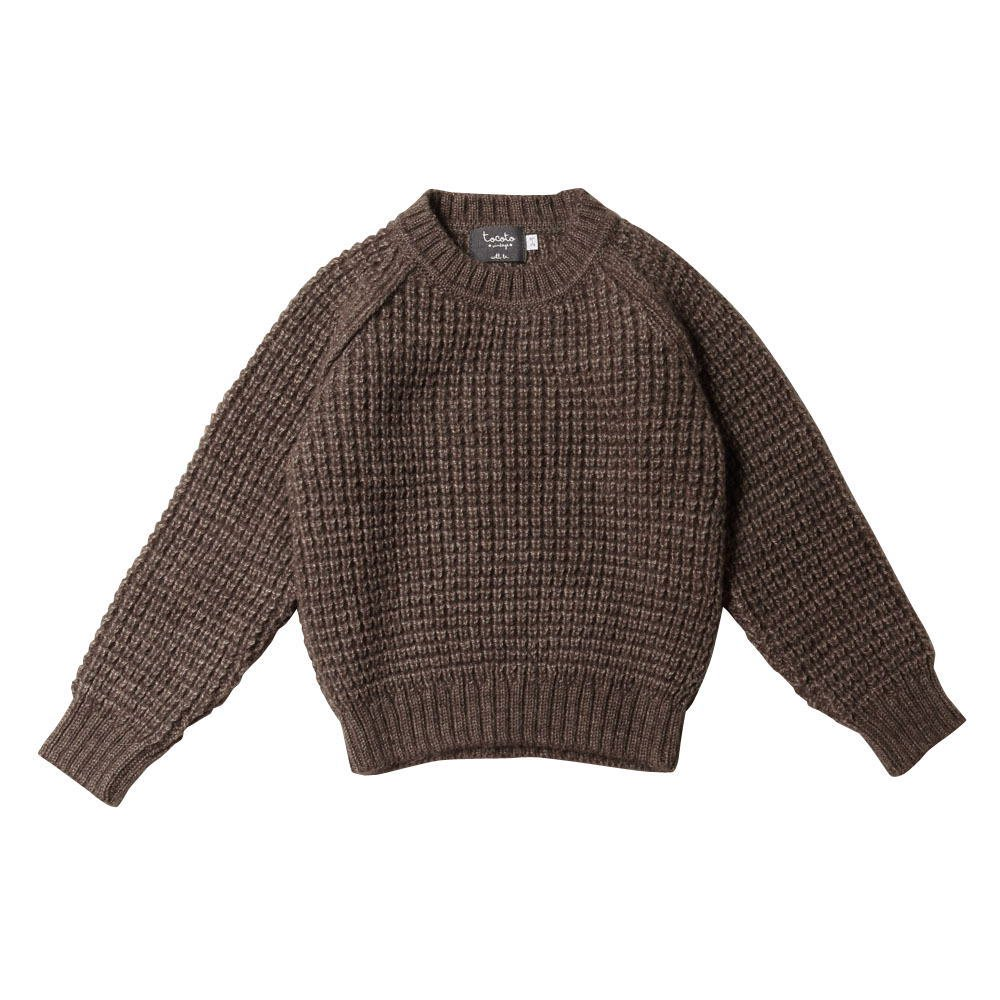 【SALE 40%OFF】W5616. KNITTED KID JERSEY BROWN img1