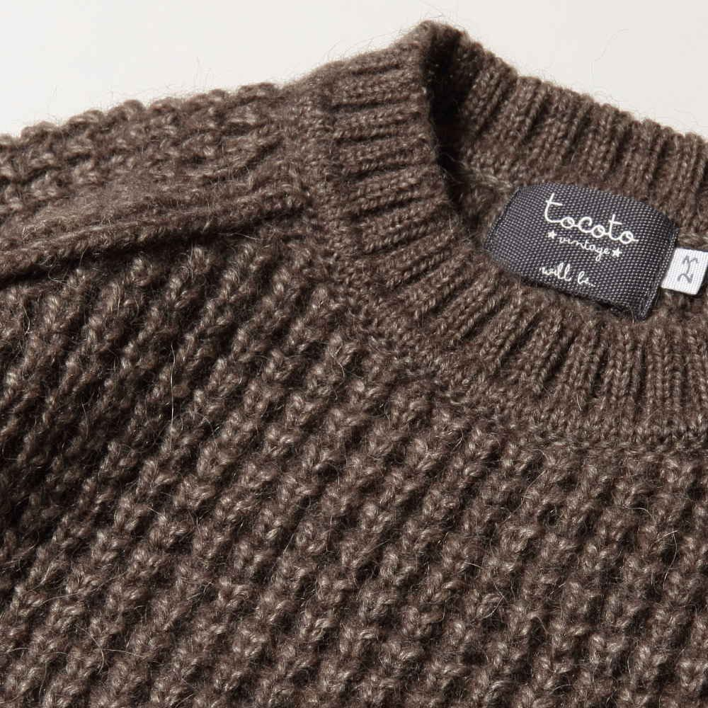 【SALE 40%OFF】W5616. KNITTED KID JERSEY BROWN img2