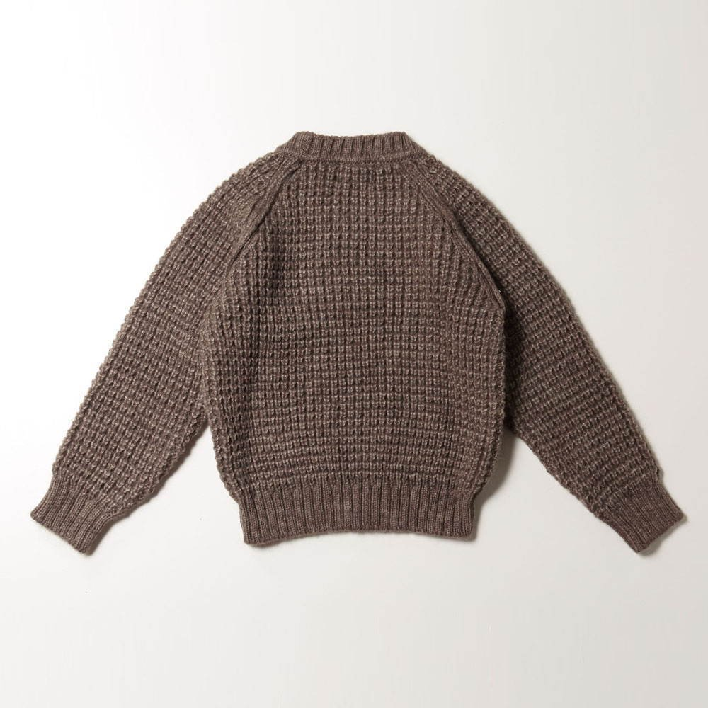 【SALE 40%OFF】W5616. KNITTED KID JERSEY BROWN img3