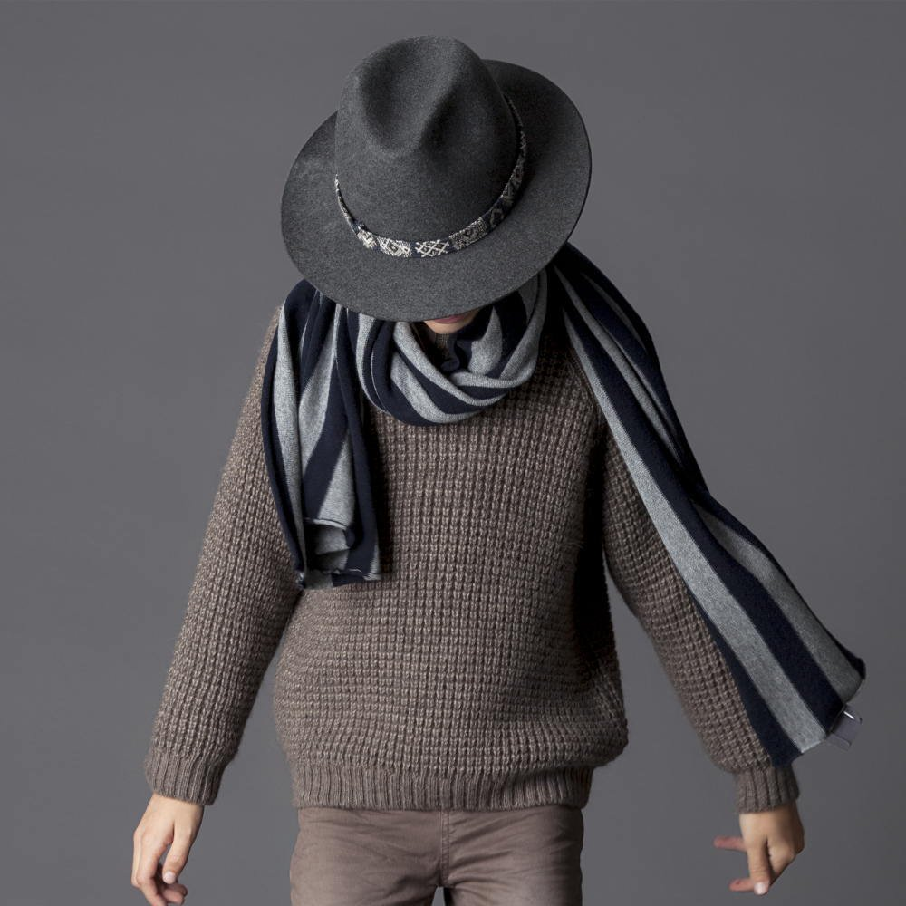 【SALE 40%OFF】W5616. KNITTED KID JERSEY BROWN img4