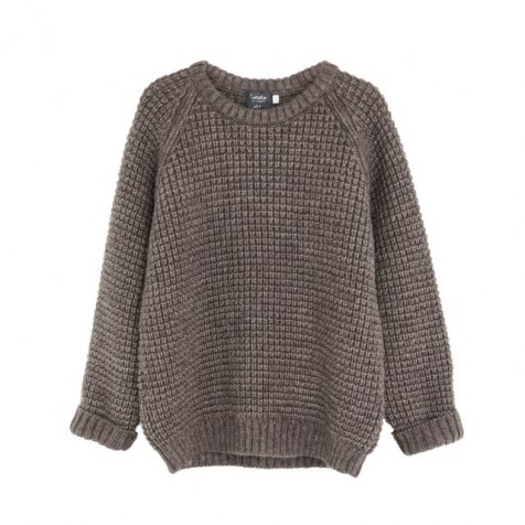 【MORE SALE 50%OFF】W5616. KNITTED KID JERSEY BROWN