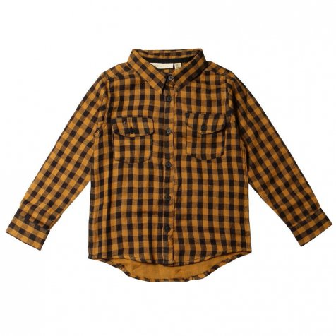 【SALE 60%OFF】Severin Shirt 120. Curry - AOP Double Check