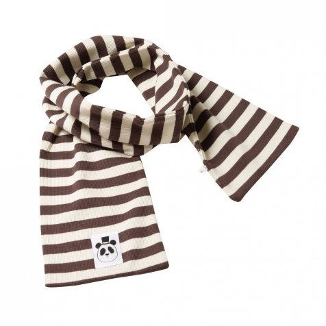 【セール30%OFF】60125. STRIPE RIB SCARF BROWN