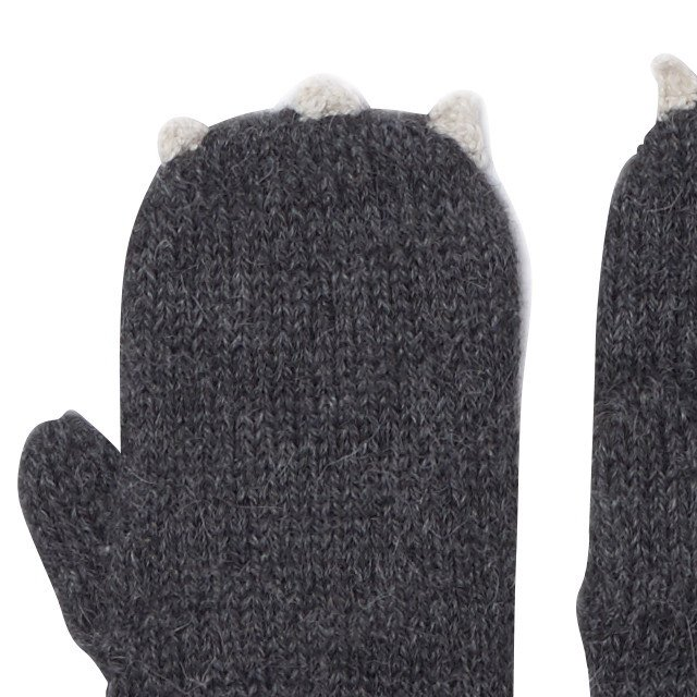 【SALE 40%OFF】Animal Mittens in Cat img1