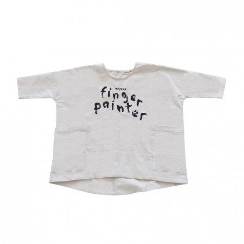 【MORE SALE 60%OFF】FINGERPAINTER OVERSIZED WOVEN DRESS ASH WHITE