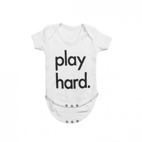 Play Hard Bodysuit White
