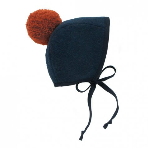 【セール30%OFF】Bonnets Pom Navy and Rust