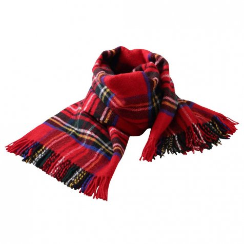 【MORE SALE 50%OFF】Life Style Shawl / Jura Tartan Travel Throw, royal stewart