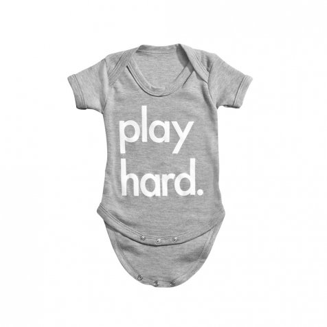 Play Hard Bodysuit Grey