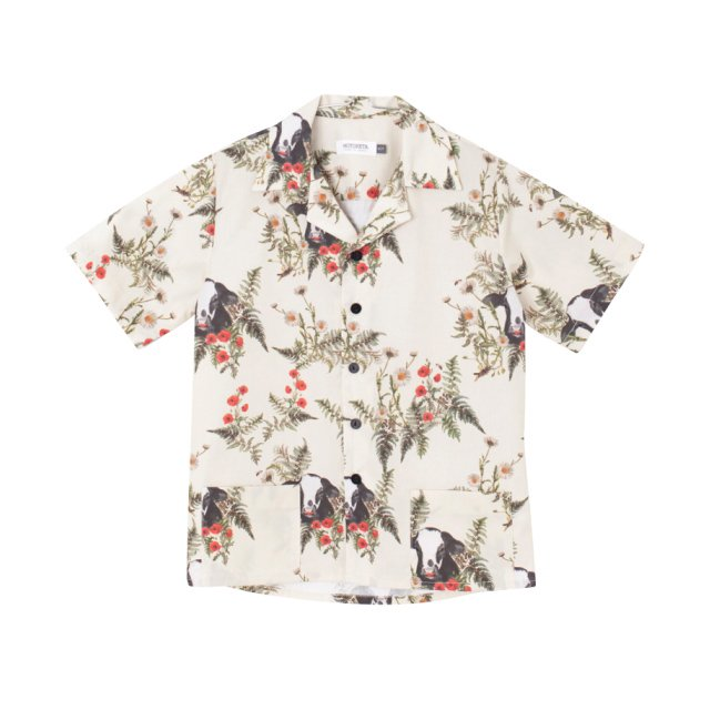 【SALE 50%OFF】OLMO SHIRT FLOWERS AND BULL PRINT img