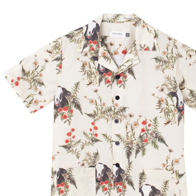 【SALE 50%OFF】OLMO SHIRT FLOWERS AND BULL PRINT img1