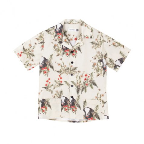 OLMO SHIRT FLOWERS AND BULL PRINT