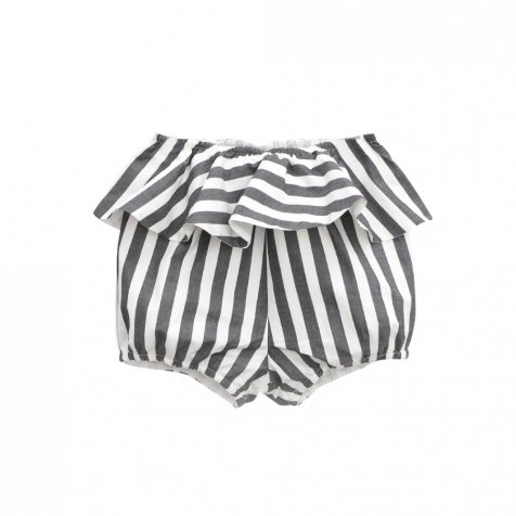 【春夏物セール30%OFF】XEREZ SHORT. BLACK AND WHITE STRIPES