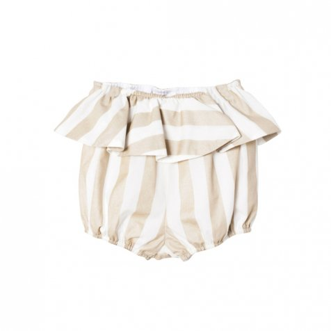 【SALE 50%OFF】XEREZ SHORT. WHITE AND GOLDEN STRIPES