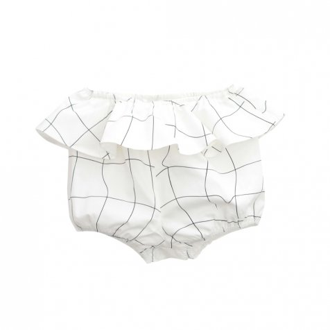 【春夏物セール30%OFF】XEREZ SHORT. WHITE AND BLACK GRID