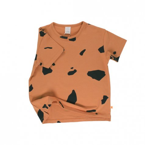 【2nd-2月14日販売開始】No.017 cut outs SS oversized tee dark peach / dark navy