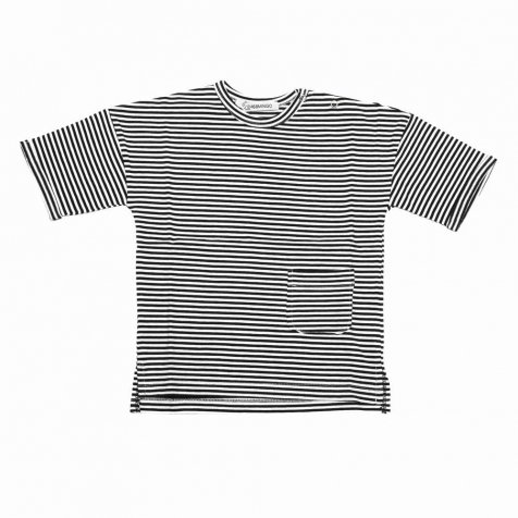 【2月末入荷予定】T-shirt Black / White stripes