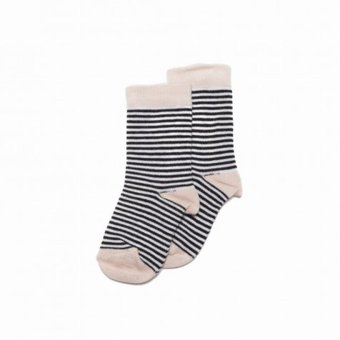 Sock striped and dusty pink