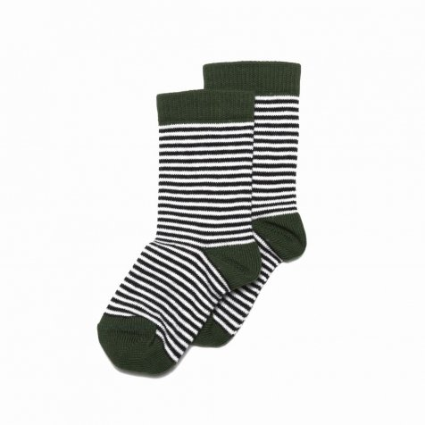 Sock striped and forest green