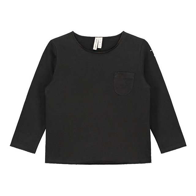 【40%OFF】L/S Pocket Tee Nearly Black img1