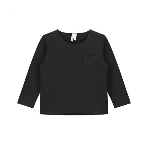 L/S Pocket Tee Nearly Black