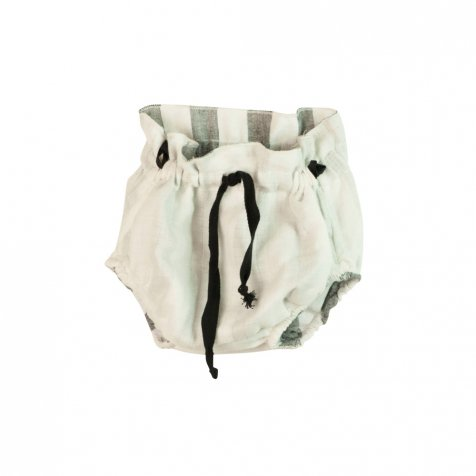 【春夏物セール30%OFF】Reversible culotte with black stripes and white muslin