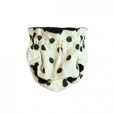 【春夏物セール30%OFF】Reversible culotte in black and polka dot