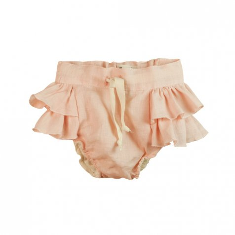 Pink culotte with frills