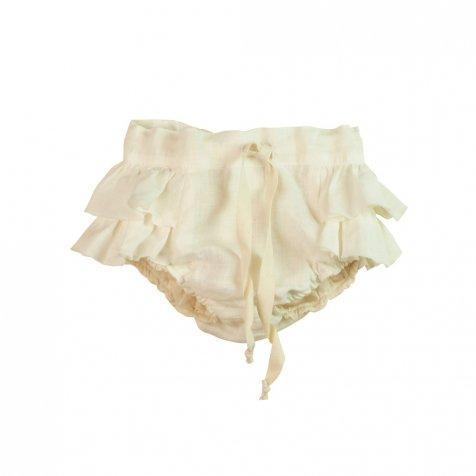 【SALE 40%OFF】White culotte with frills