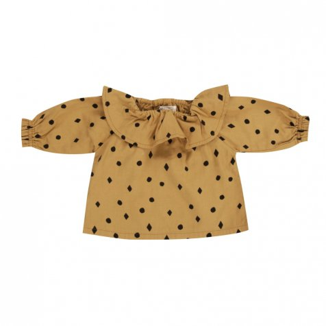 【入荷前ご予約販売】dots n'diamonds collar blouse mustard