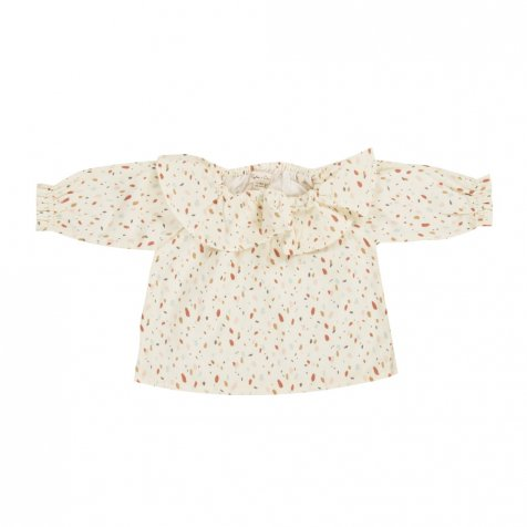 confetti collar blouse ivory