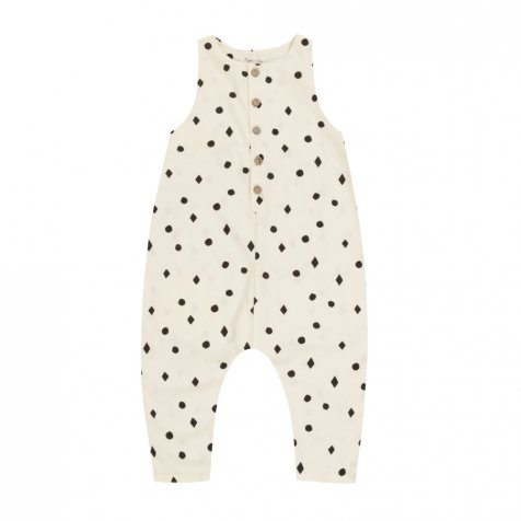 【入荷前ご予約販売】dots n'diamonds button jumpsuit vanilla