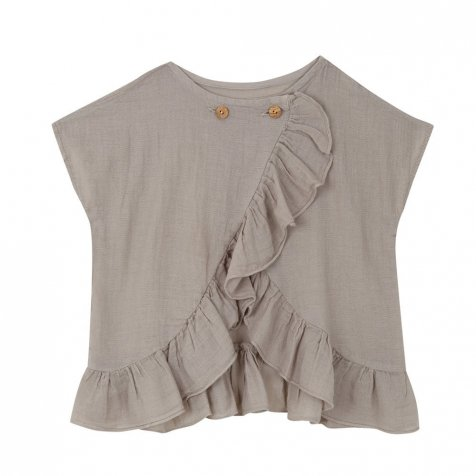Cross blouse Grey cloud
