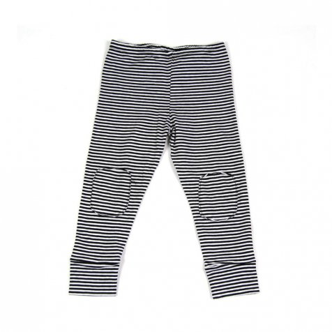 Legging jersey Black / White stripes