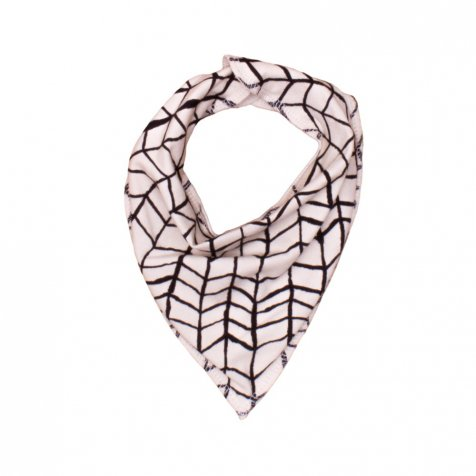 Drooling Scarf black wave grid