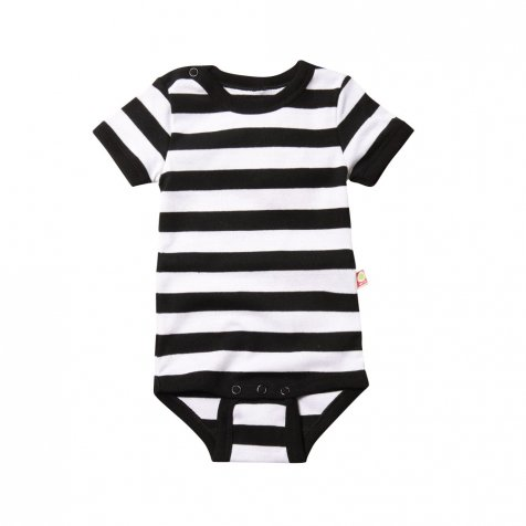 Body S/S Kat.Stripe White/black